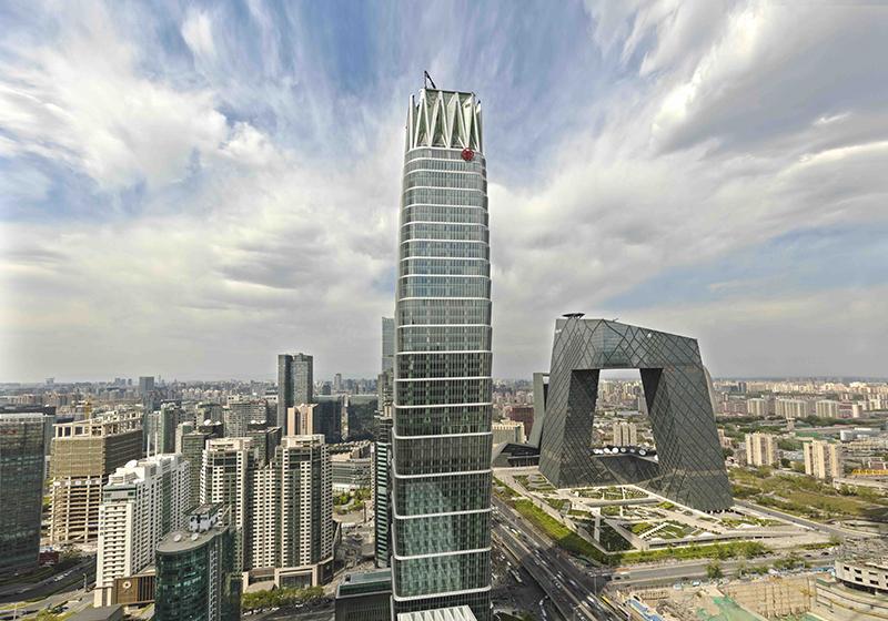 新国贸饭店身处国贸大厦b座1-22层,纵览北京都市独一景色.